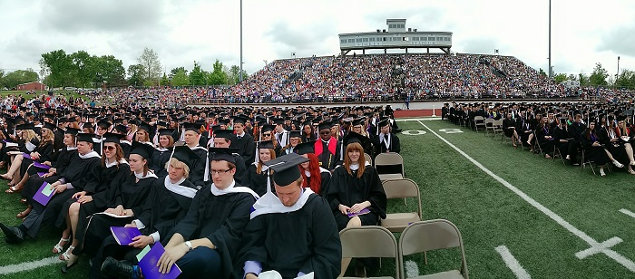 Graduates at Spring Commencement