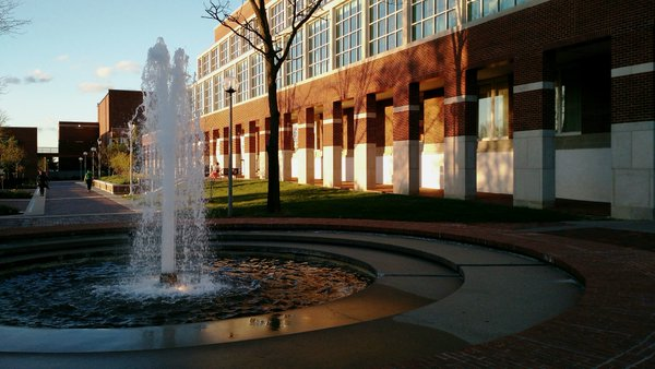 Fountain by Library