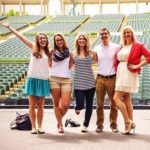 John with friends at the Muny