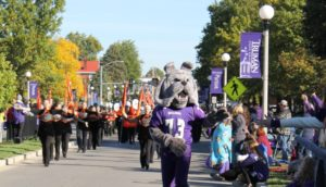 Spike in the Homecoming Parade