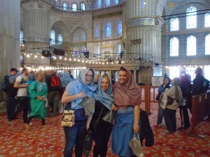While studying abroad, Bethany visited Istanbul