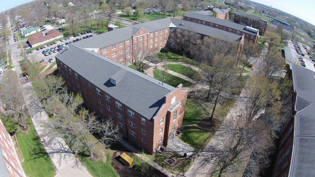 Aerial View of Dobson Hall