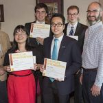 Truman students who took first and second place in the Robert L. Gould Scholastic Award