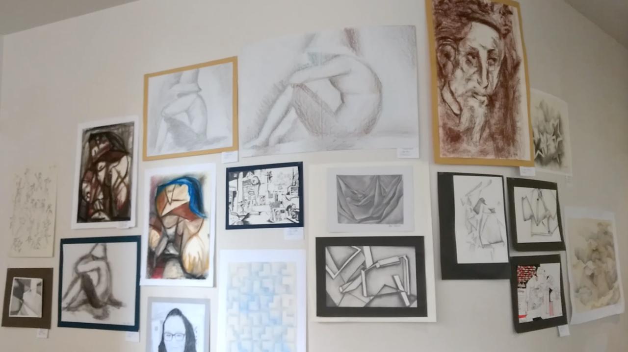 KHS art exhibit in OP