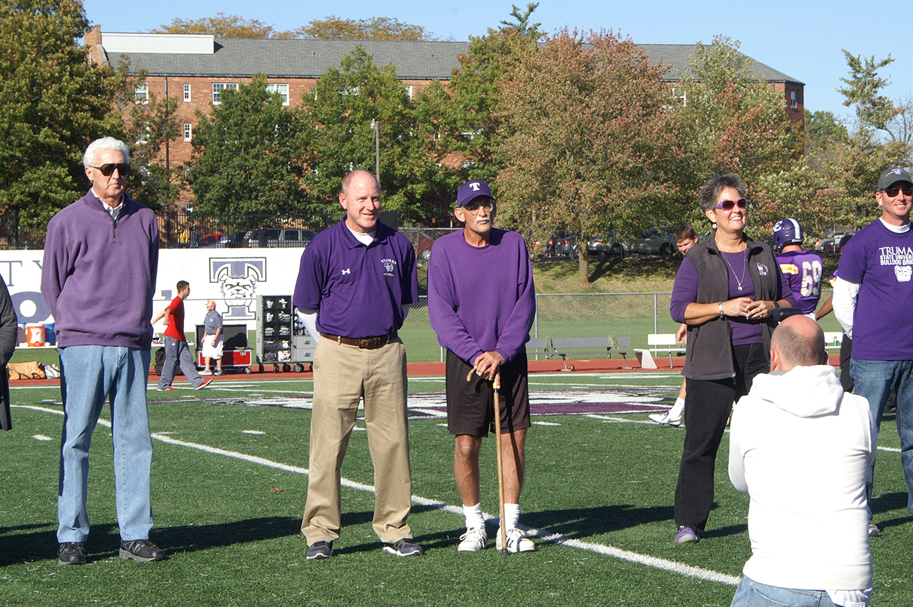 Introduction of honorees at half-time