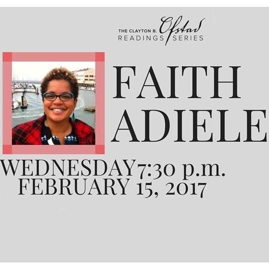 Clayton B. Ofstad Reading Series Presents Faith Adiele