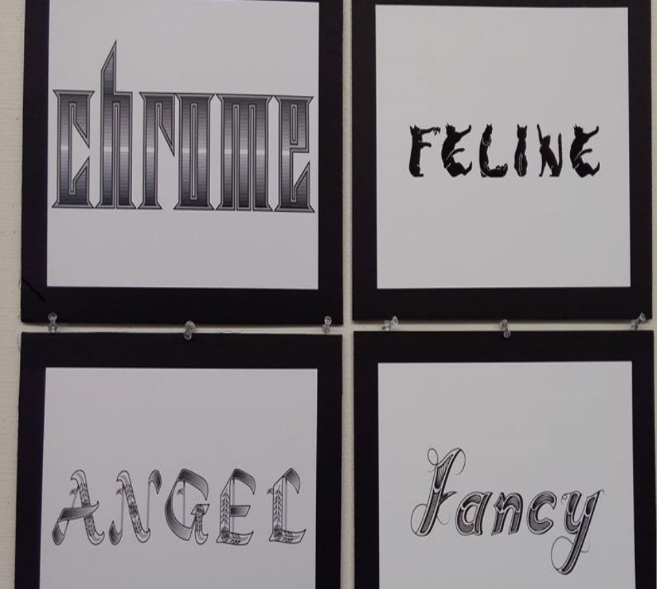 Design students created their own typographies