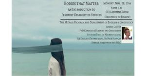 Alumna to Present on Feminist Disability Studies