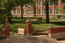 North gates on campus Quad