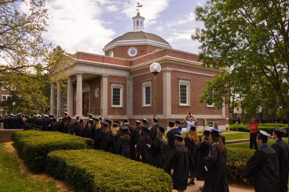 Kirk Memorial, a campus landmark