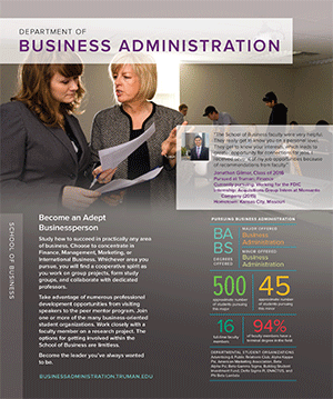 Print our Business Administration Quick Facts brochure (PDF)