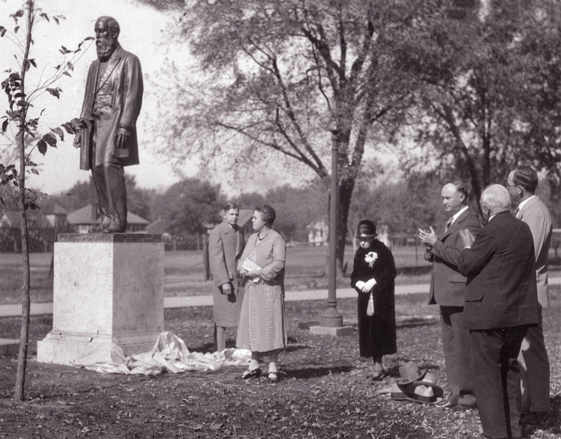 Dedication ceremony for the statue of Joseph Baldwin