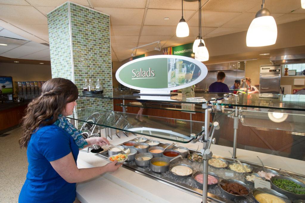 Salad bar in Ryle Hall