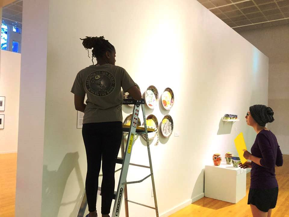 Preparing an exhibition