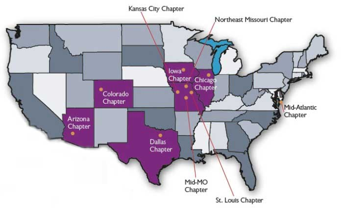 Map - Alumni Chapter Locations