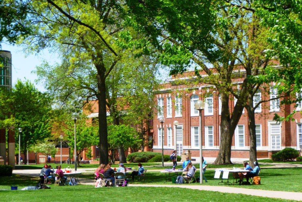 Baldwin Hall and the Quad on the Truman State University campus