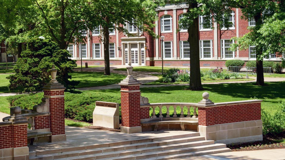 Campus Gate and Baldwin Hall