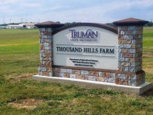 University Farm - Sign at Thousand Hills Farm