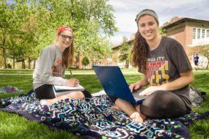 Students on the Truman Quad
