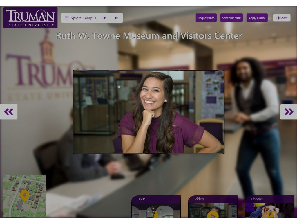 Shari, one of the staff members who appear in Truman's Virtual Tour