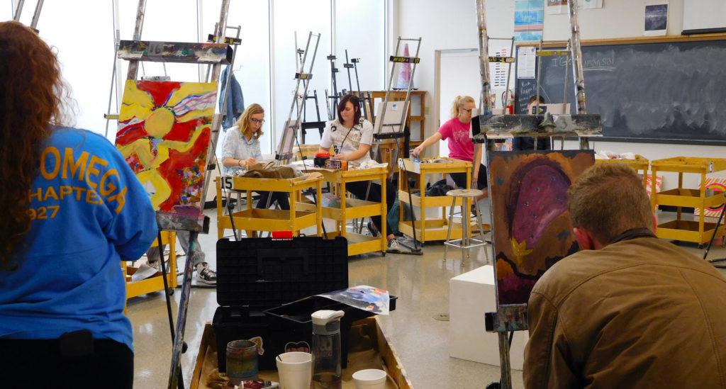 Ophelia Parrish Painting Studio