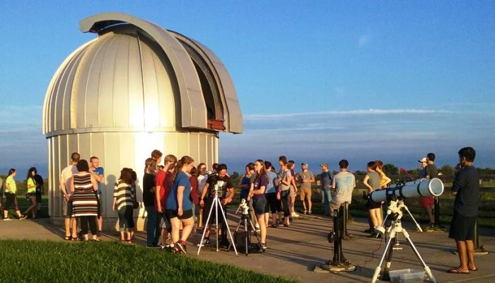 View the planets and other objects in the night sky at the University's Observatory