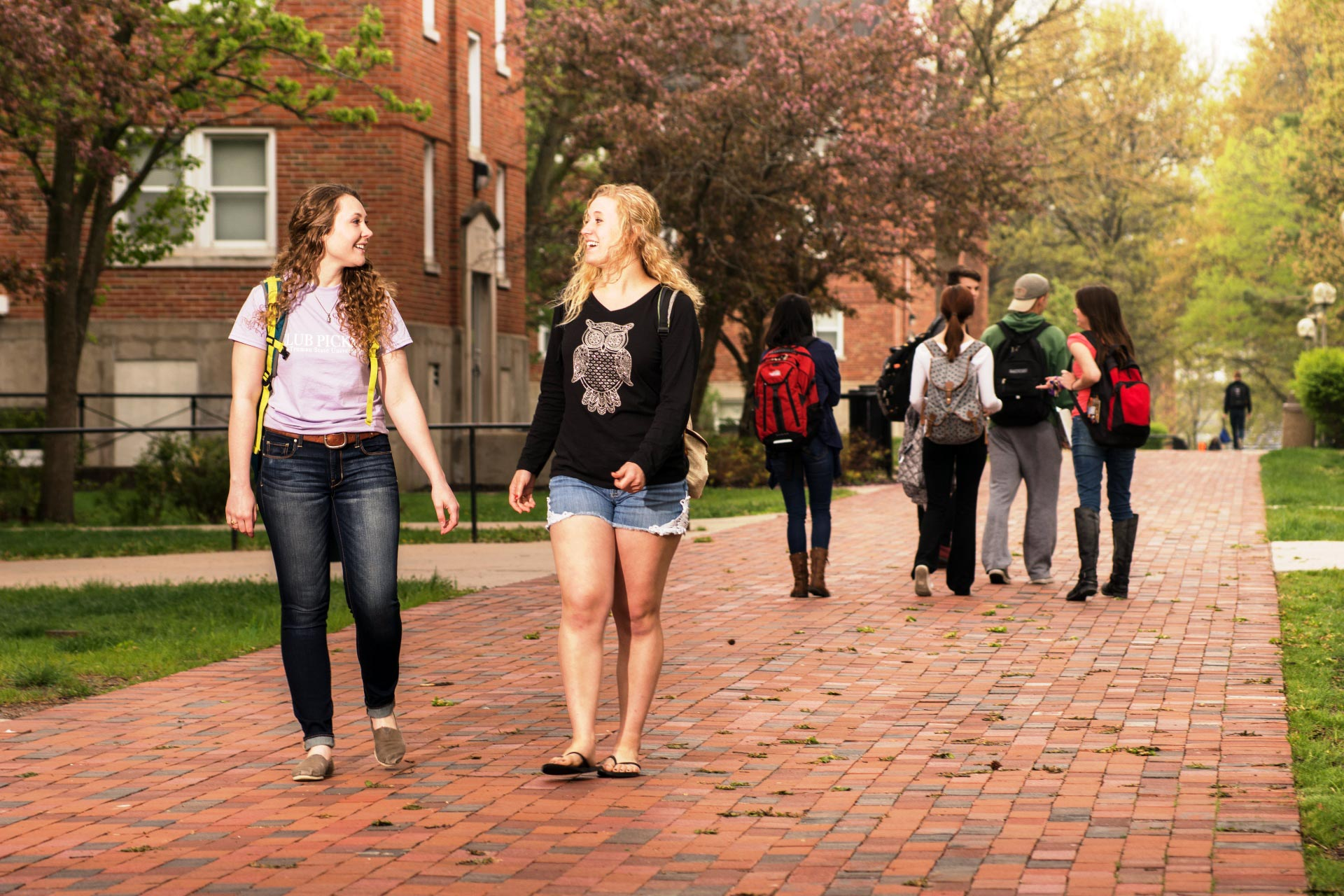Students on the Truman campus