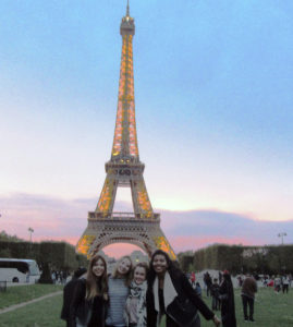 Study abroad students in Paris, France