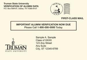 Postcard - Truman State University Alumni Directory Project