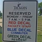 Parking sign on Truman campus