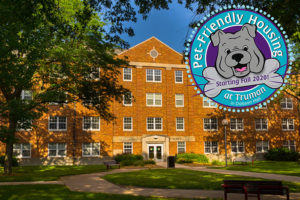 Dobson Hall offers pet-friendly housing on the Truman campus