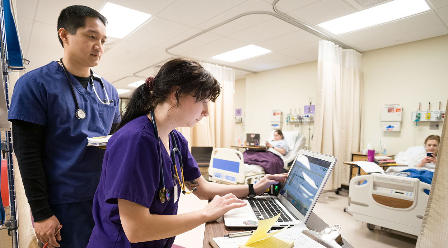 Students in the Nursing Simulation Center