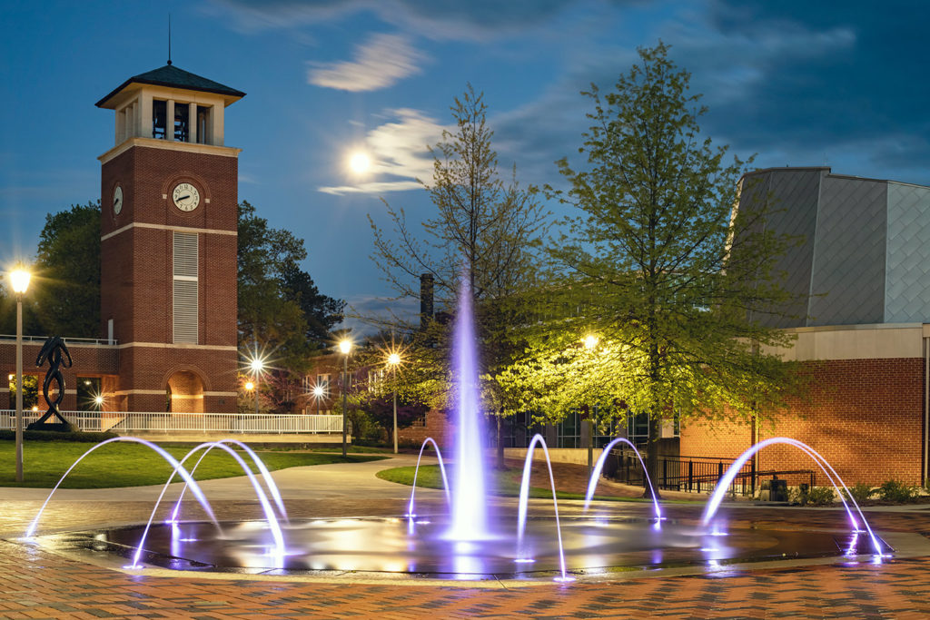 Fountain and Clock Tower on Truman campus