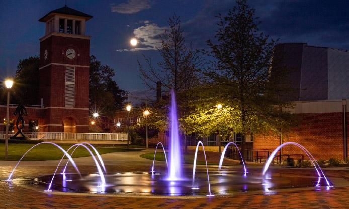 Fountain on Truman State University campus