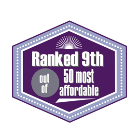 Ranked 9th out of top 50 most affordable