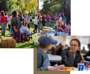 Students on Truman campus