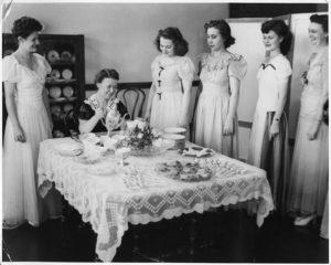 A tea party circa 1944-45
