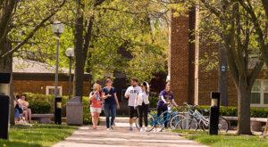 Student on Truman campus