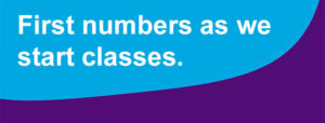 First numbers as we start classes